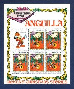 ANGUILLA - # 547-555 - VFMNH Sheets - Disney - Dickens Christmas Stories - 9 PIX