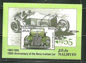 Maldives MNH S/S 100th Anniversary Of Benz Automobiles