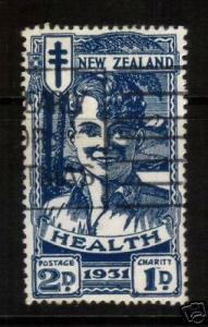 NEW ZEALAND 1931 HEALTH 2d BLUE BOY FU