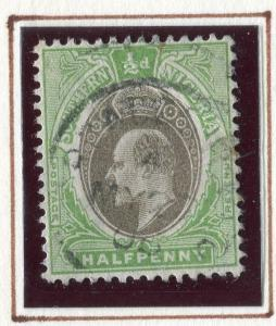SOUTHERN NIGERIA; 1903 early Ed VII issue fine used 1/2d. value