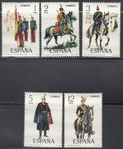 Spain MNH 2078-82 Military Uniforms 1978