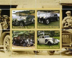 Classic CARS Sheet (4) Perforated Mint (NH)