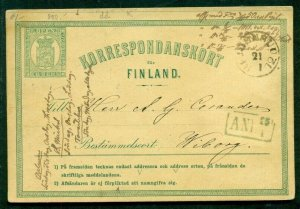 FINLAND Norma PK1A, 8pen postal card, used, VF, Norma $69.00