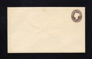 CANADA: Webb #EN2 10c Mint FIRST ISSUE Envelope