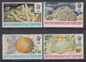 British Indian Ocean Territory 44-47 Marine Life MNH VF