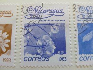 Nicaragua 1983 Flower 1cor fine used stamp A11P11F112