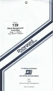 SHOWGARD BLACK MOUNTS 264/139 (5) RETAIL PRICE $11.95
