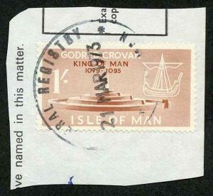 Isle of Man 1/- Brown QEII Pictorial Revenues CDS On Piece