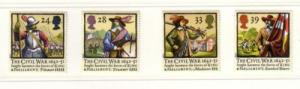 Great Britain Sc 1454-7 1992 350 yrs Civil War stamps mint