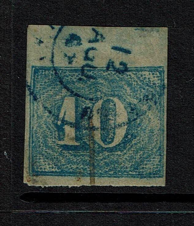 Brazil SC# 37, Used, Blue Cancel, Right Tear -  Lot 060417