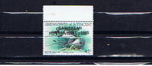 GRENADINES OF ST.VINCENT DOUBLE OVERPRINT ROYAL VISIT
