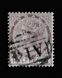 VINTAGE: TOBAGO 1883-84 USD,BH SCOTT# 8 $ 82.50 LOT# VSATOB1883C