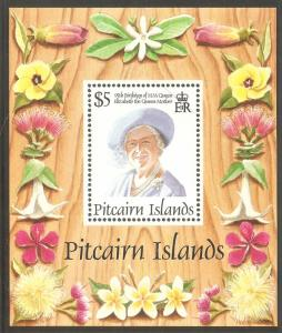 PITCAIRN ISLAND Sc# 431 MNH FVF Souvenir Sheet Queen Mother 95th