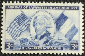 US #1010 MNH Single Lafayette SCV $.25
