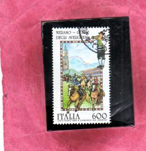 ITALIA REPUBBLICA  ITALY REPUBLIC 1990 FOLCLORE FOLKLORE CORSE DEGLI  AVELIGN...