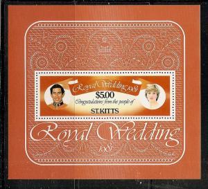 St.Kitts   81 MNH 1981 $5.Royal Wedding Sheet