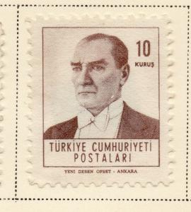 Turkey 1961-62 Early Issue Fine Mint Hinged 10k. 093603