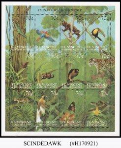 ST. VINCENT GRENADINES - 1999 FLORA & FAUNA / PLANTS & ANIMALS - 2 MIN/SHT MNH