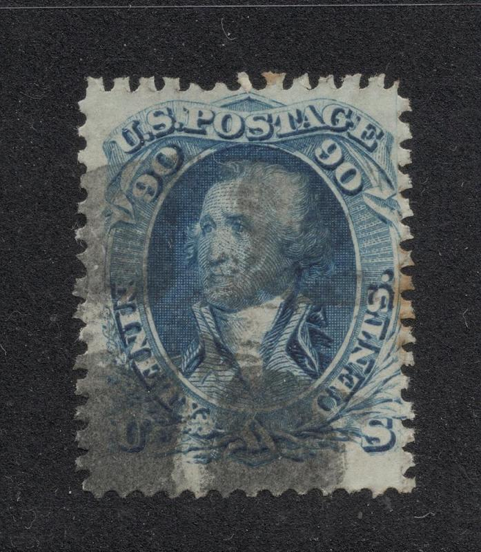 US#72 Blue - Quartered Cork Cancel - Cat:$600.00