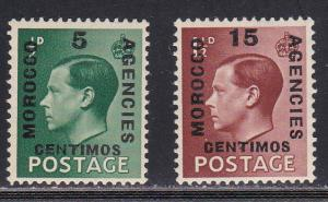Great Britain - Morocco # 437-438, Mint LH