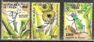 NIGER 1987 INSECTS on Stamps WYSIWYG Lot