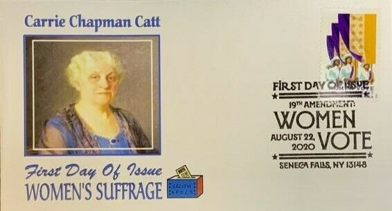 AFDCS 5523 Women's Suffrage Carrie Chapmand Catt Senceca Falls NY