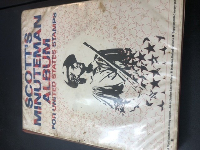 Scott's Minuteman Album For U.S. Stamps & Some  President Stamps