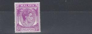 SOUTH WEST AFRICA  1948 - 52   S G 19A  5C BRIGHT PURPLE    MH