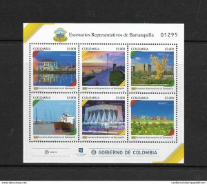 RO) 2018 COLOMBIA, HERITAGE FROM BARRANQUILLA-STAGE-EMBLEMS, CULTURE-ARCHITECTUR