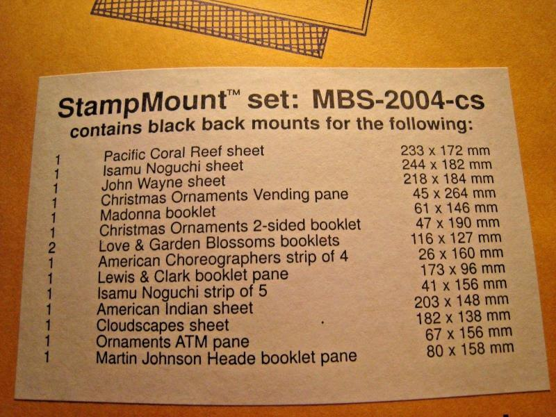 WASHINGTON PRESS STAMPMOUNT - 5 PACKS - 4 DIFFERENT - UNOPENED