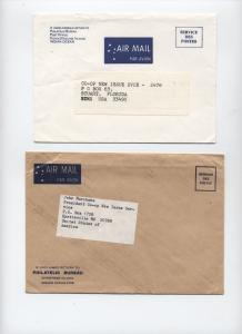 Pair of 1990s Philatelic Bureau covers Cocos (Keeling), Christmas Island [L.75]