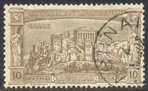 GREECE #128 Used -1896 10d Olympics