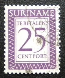 SURINAME 1956  PORT STAMP. SCOTT # J54. USED.