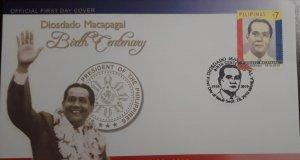 O) 2010 PHILIPPINES, PRESIDENT DIOSDADO MACAPAGAL. FDC XF