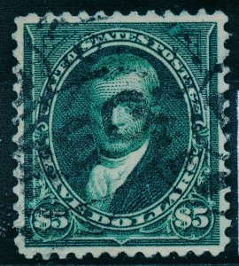 UNITED STATES (US) 263, USED, F-VF+ , LIGHT CANCEL, SMALL REPAIR, SEE CERTIF.