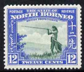 North Borneo 1939 Murut with Blowpipe 12c (from def set) ...