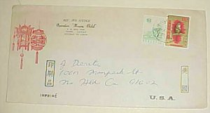 TAIWAN COVER 1971 WITH MONKEY STAMP 1.00 TO USA