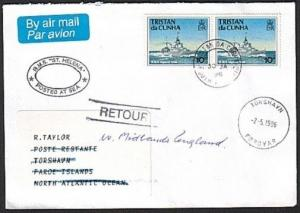 TRISTAN DA CUNHA 1996 Returned cover to Faroe Islands......................73480