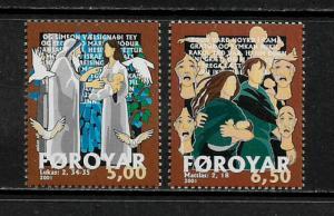 Faroe Is. 407-8 MNH Complete Set - Bible Stories