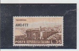 Trieste  Scott#  192  MH  (1954 Overprinted)