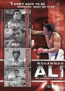 Dominica Boxing Stamps 2008 MNH Muhammad Sports Famous People 4v M/S I