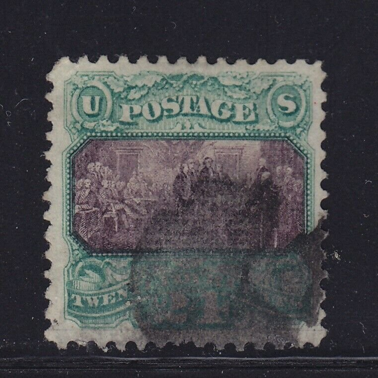 120 VF+ used neat cancel with nice color cv $ 650 ! see pic !