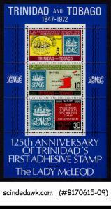 TRINIDAD & TOBAGO - 1972 125th ANNIVERSARY OF TRINIDAD'S 1st ADHESIVE ST...
