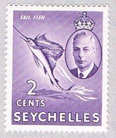 Seychelles 157 MLH Sailfish 1952 (BP38626)