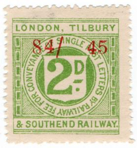 (I.B) London, Tilbury & Southend Railway : Letter Stamp 2d