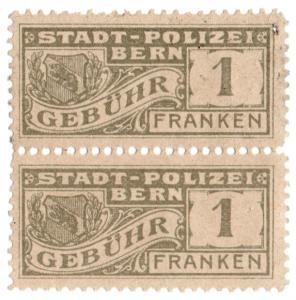 (I.B) Switzerland Revenue : Bern Police 1Fr