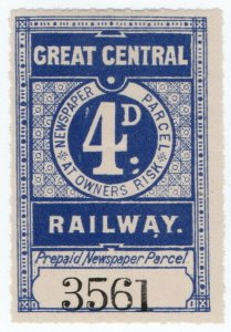 (I.B) Great Central Railway : Newspaper Parcel 4d