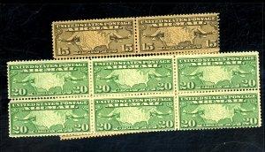 C8(6),C9(6) MINT F-VF OG NH Cat$103