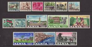 1963 Kenya Set Mounted Mint SG1/14
