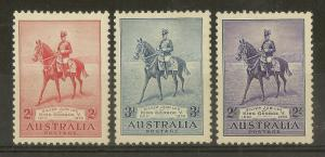 Australia 1935 Silver Jubilee SG156-158 Mint Cat£42